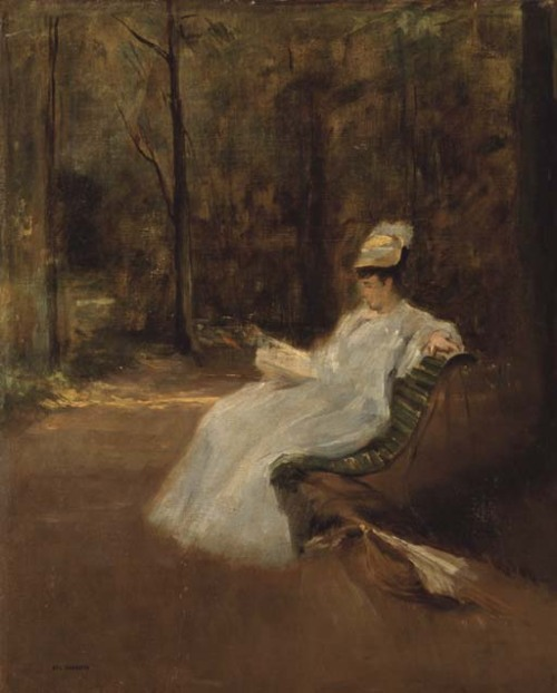 poboh:  Dans le parc, Eva Gonzalès. French Impressionist Pinter (1849 - 1883)  A talented pupil of Manet.