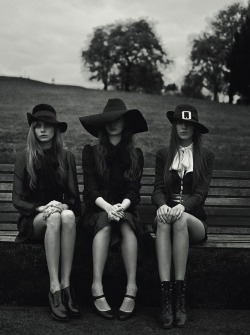 "mariacarlabosscono:  ""Witches,"" by Richard Bush for i-D Magazine Pre-Spring 2013"