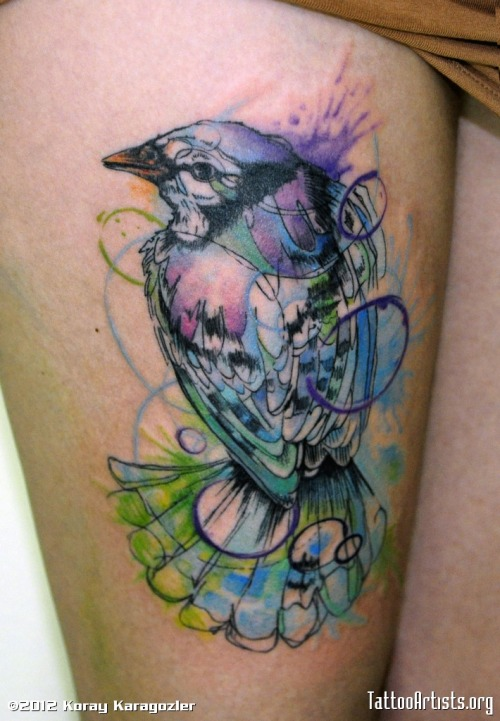 ephemeral-blues:  I want a watercolor tattoo so bad. From TattooArtists.org — Tattoos, Dreadlocks and Piercing Blog