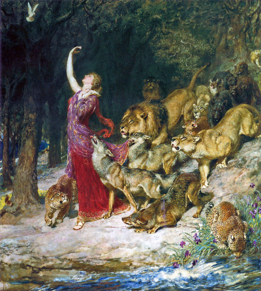 chrestomatheia:  Briton Riviere (1840-1920), Aphrodite.