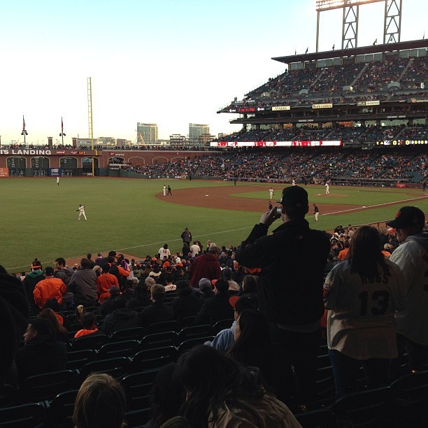 View from our seats, Sec 130 (at AT&T Park)