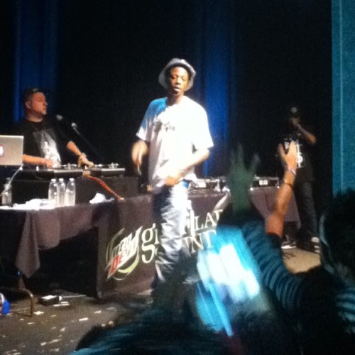 Yo Joey Bada$$ killed it! Thanks to @ogswank #proera #flatbushzombies #theunderachievers for a dope show!