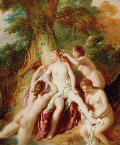 jaded-mandarin:  Jean-François de Troy. Detail from Diana and her Nymphs Bathing.