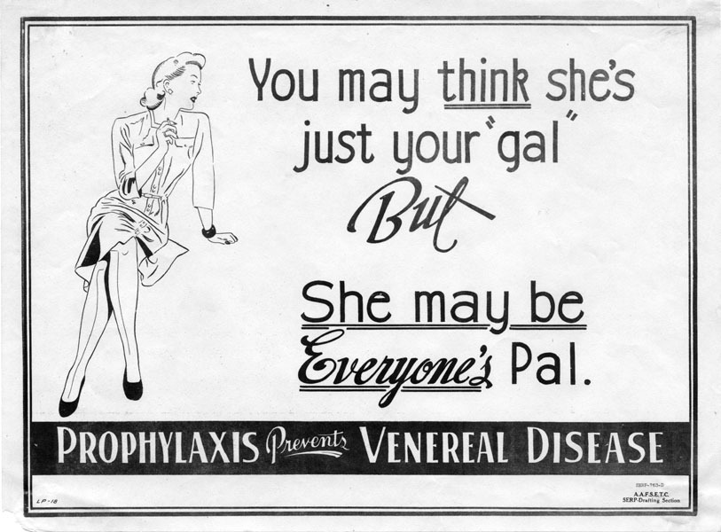 weirdvintage:  Anti-prostitution poster, WWII (via Retronaut)
