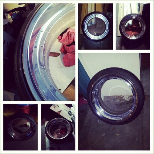 Now offering wheel polishing. Hit me up #dialedincrew #dialedin  @dialedincrew @stanc3dgenesis @xsly @gc_jay @gc_fanon #volks #volkwheels #polished #clean. #firstjob