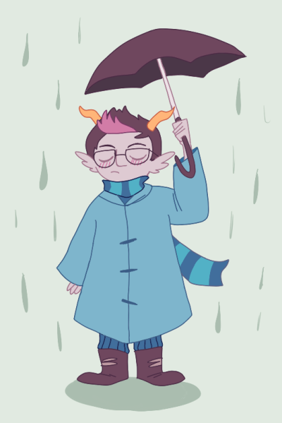 eridandy:  raincoat eridan because koi wanted one