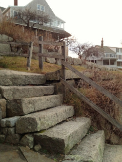 Stone steps to the beach Annisquam, MA