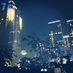 The vibrant night lights of Jakarta. #jakarta #city #travel #world #lights #aroundtheworld #buildings #asia