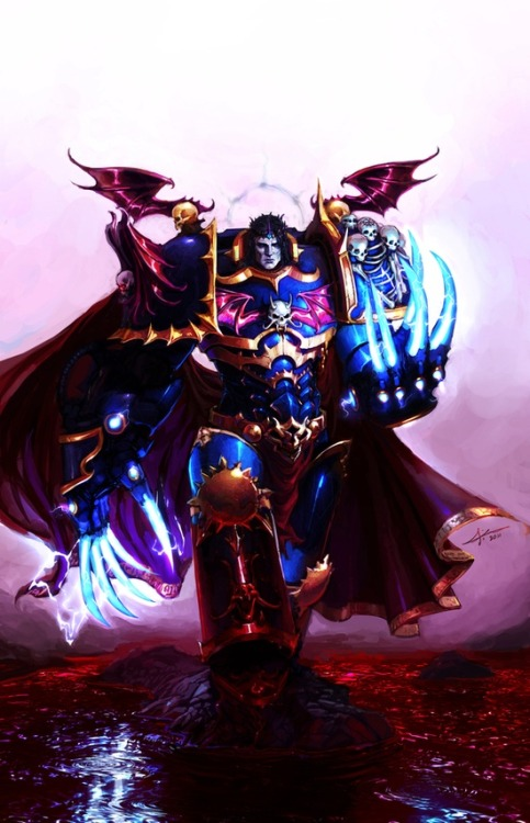 scifi-fantasy-horror:  Warhammer 40k, Primarch Konrad Curze of the Night Lords Chaos Space Marines