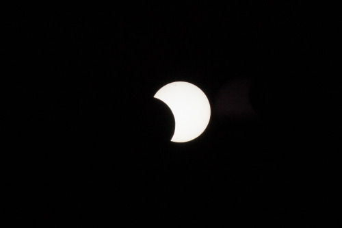 just remembered there was a partial eclipse, and here it is.