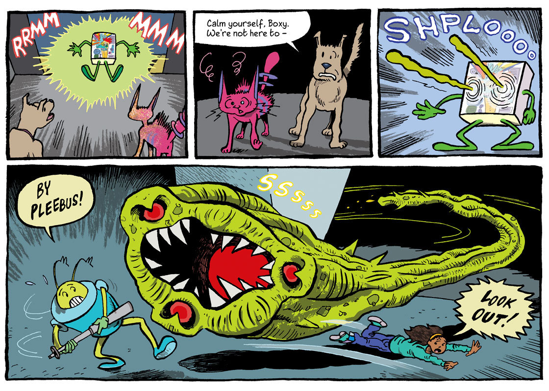 This week in Cora's Breakfast, available now in @phoenixcomicuk - out now at all good newsagents and available worldwide on iTunes!