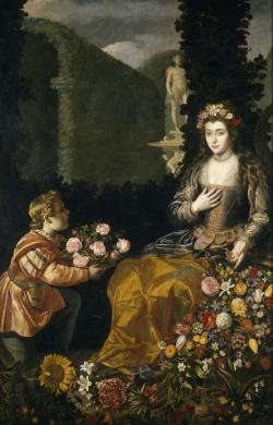 colourthysoul:  Juan van der Hamen - Offering to Flora (1627)