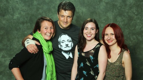 Big off-topic announcement: I met the amazing Nathan Fillion with my friends at Ottawa ComicCon today! We make a good-looking (adopted) family portrait.