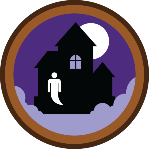 lifescouts:  Lifescouts: Haunted House Badge If you have this badge, reblog it and share your story! Look through the notes to read other people's stories. Click here to buy this badge physically (ships worldwide). Lifescouts is a badge-collecting community of people who share real-world experiences online.  There was a family down the road from where I grew up that almost made me poop myself with fear. Props on that haunted house.