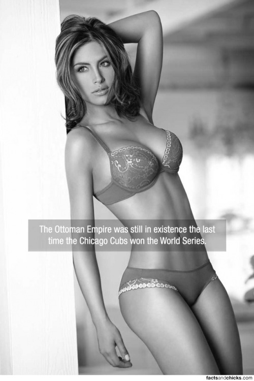 factsandchicks:   The Ottoman Empire was still in existence the last time the Chicago Cubs won the World Series. source   Don't remind us…