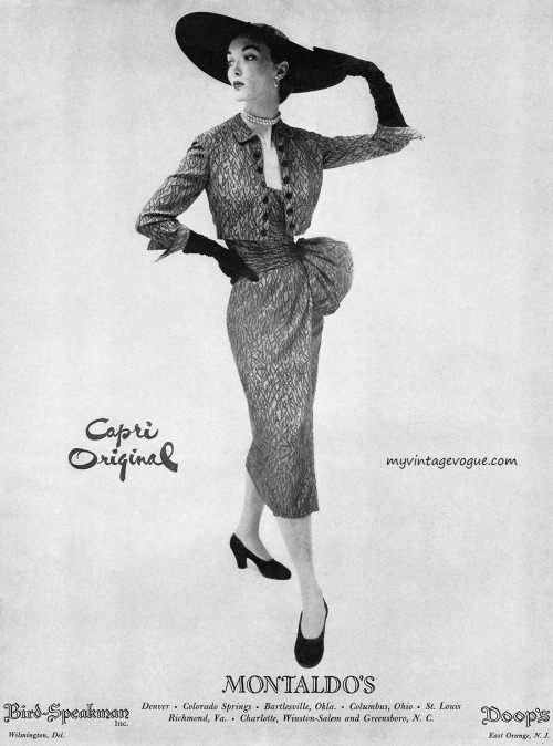 Evelyn Tripp wearing Capri Original 1950