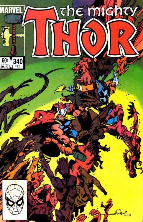 comicbookcovers:  Thor #340, February 1984 cover by Walt Simonson