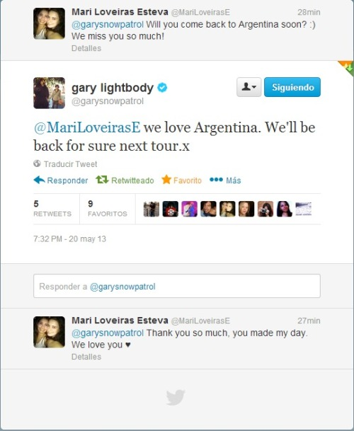 Gary just replied me on twitter ♥