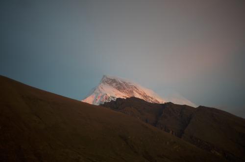 Sunset Reflecting on Huandoy SouthHuascaran National Park, PeruLeica M9November 2013