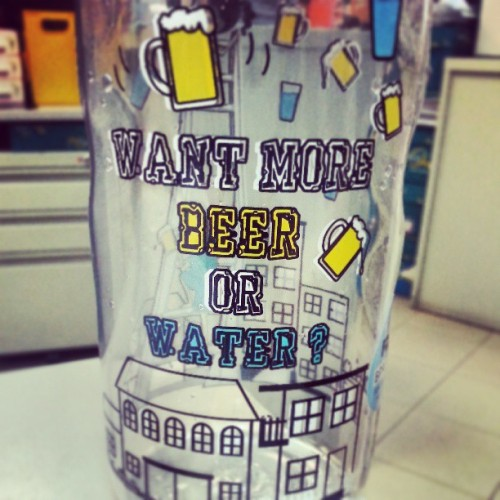 More #beer or #water ?