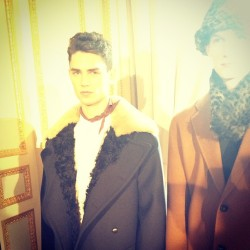The Acne dandy, in residence at the Crillon. #pfw