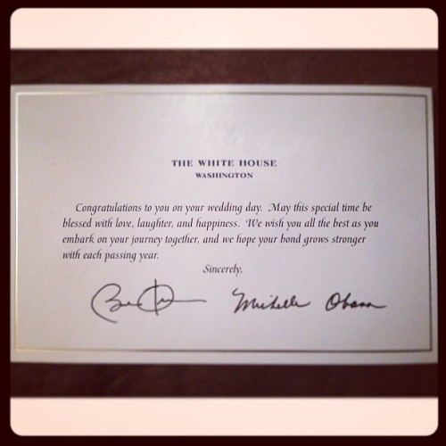 Why thank you Mrs and Mr @barackobama! 🇺🇸 #whitehouse #america #president #firstlady #wedding #invitation #omg #itwouldbecrazyiftheyactuallyshowedup