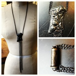 Finished Projects: Chased Die formed necklace with etched snap clasp #jewelry