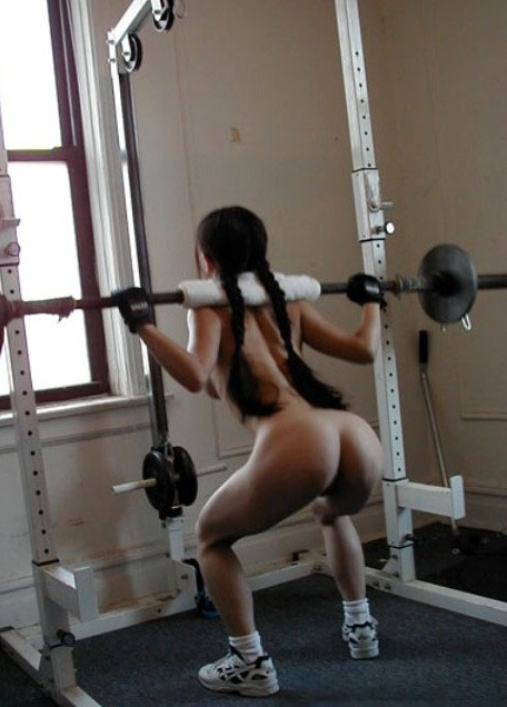 Sexy weight lifting