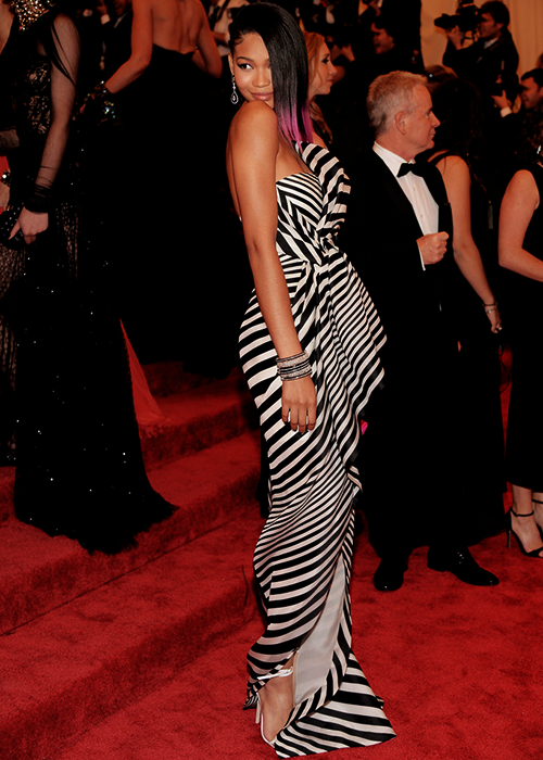Chanel Iman at the 2013 MET Gala