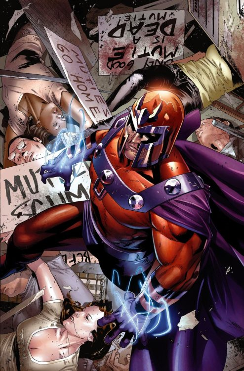 nerdynerdynerd:  Magneto from Magneto: Not A Hero 001 (cover)