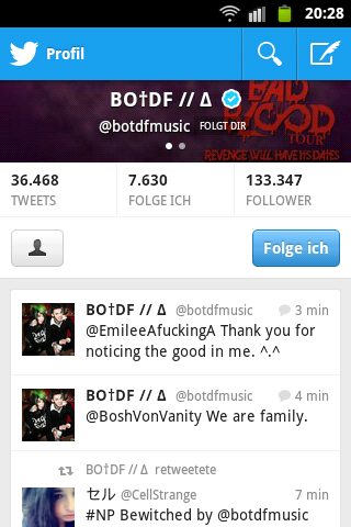 BOTDF is following me!!!