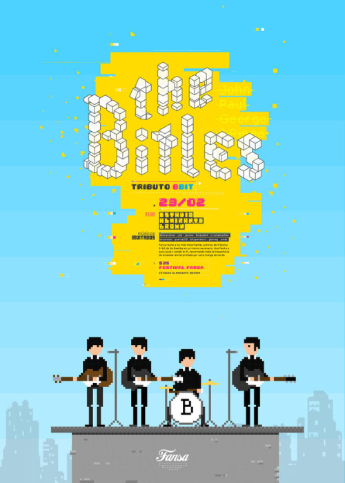 (via The Bitles - 8.bit tribute on Behance)
