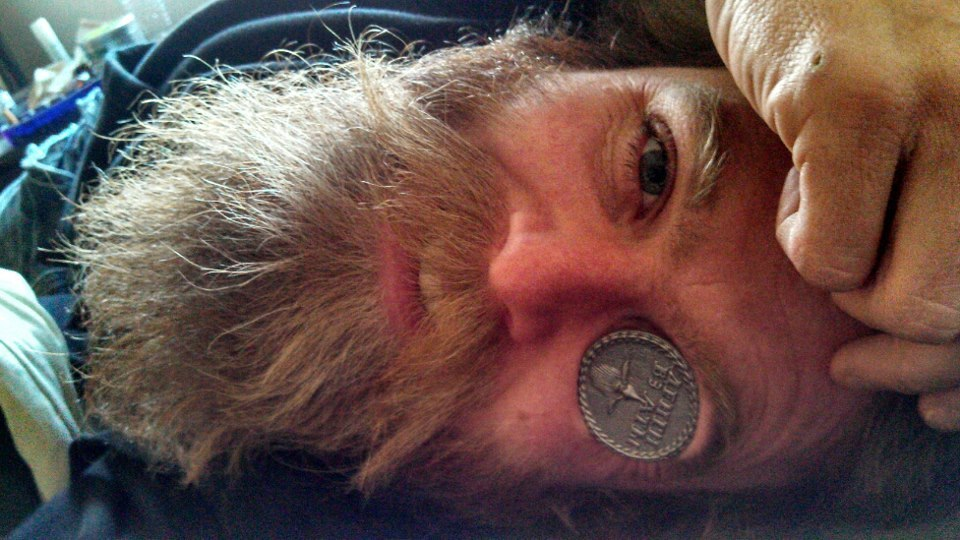 "Aaron Shipp who runs Bold and Bearded with his Beard Token. From his FB page, ""It's not a trend, it's not a fashion statement, it's who you are, it's a way to live. Bold and Bearded."" Very nice. Get your own Beard Token at beardtoken.com"