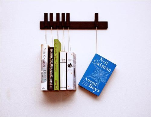 52hearts:  Mini book rack (via agustav furniture & design)