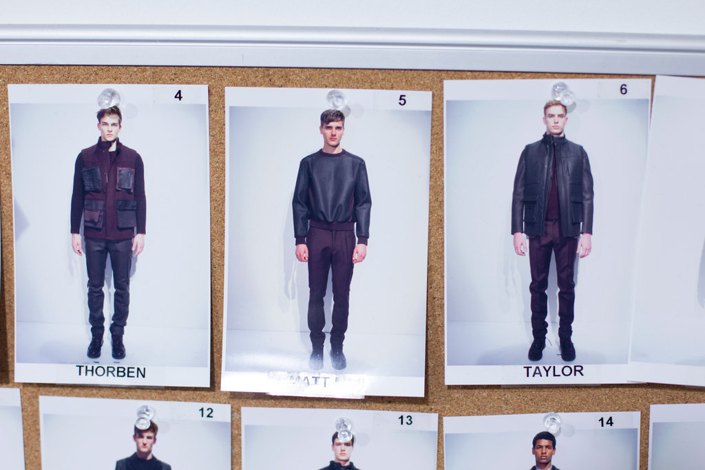 Lineup. Calvin Klein Fall 2013. Scenes from the Milan fashion week photo diary of Kevin Tachman.