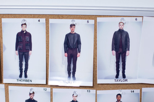 tmagazine:  Lineup. Calvin Klein Fall 2013. Scenes from the Milan fashion week photo diary of Kevin Tachman.