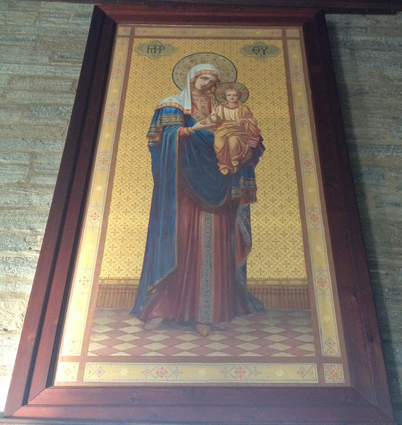 Icon of the Theotokos and Child at St. Josaphat's Ukrainian Catholic Monastery