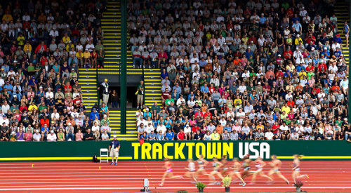 Olympic Trials: Eugene Selected As Host for 2016 Track Trials Pretty cool news today: it looks like the legacy cemented for Eugene as Track Town, USA will continue until 2016. Saw this story from The Register Guard:    State leaders this morning scheduled a news conference for Thursday in Salem to make an unspecified announcement featuring TrackTown USA president Vin Lananna, University of Oregon President Michael Gottfredson, Gov. John Kitzhaber, Senate President Peter Courtney and House Speaker Tina Kotek. The state did not officially release the topic of the news conference, but the source confirmed it was to announce that Eugene will host the 2016 Trials.    Eugene also hosted the track trials in 2012 and 2008, as well as 1972, 1976 and 1980.  The announcement is expected to be made in Salem, Oregon tomorrow at 12:30 PM.  (Photo: Jed Jacobsohn/New York Times) Click here to follow @OregonPitCrew on Twitter.