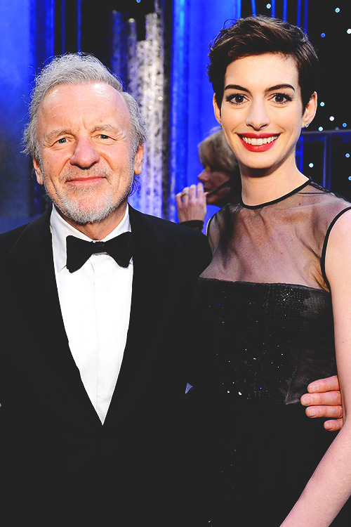 Colm with Les Mis co-star Anne Hathaway at the 2013 SAG Awards