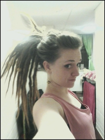 hair from the weekend, high ponytail and the show-choir poof :) (hello new followers, sometimes i put on make up and real clothes!)