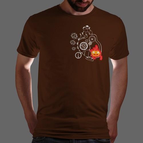 "qwertee:  ""Heart of Howl"" is today's tee on www.Qwertee.com Get this great design now for the super price of £8/€10/$12 for 24 hours only. Be sure to ""Like"" this for 1 chance at a FREE TEE this weekend, ""Reblog"" it for 2 chances and ""Follow"" us for a 3rd chance (if you're not already:) Thanks Guys!  I might have just bought it…"