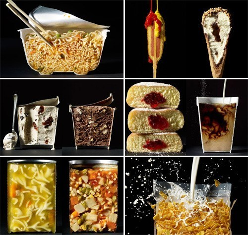 thedailywhat:  Food Pr0n of the Day: Cross-Section Views of Delicious Food Remember Scanwiches? Well, here are some more cross-sectioned views of delicious stuff for your daily eye nom noms. Photographs by New York-based food photographer Beth Galton.