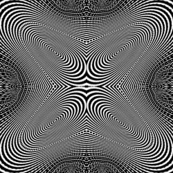 telekinetica:  Reverberated #black #white #opticalillusion #moire #eyeflutter #shaker