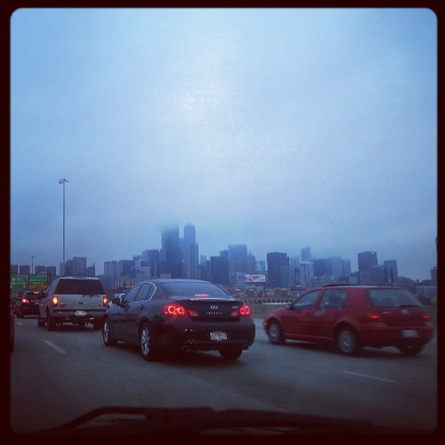 Foggy Chicago.