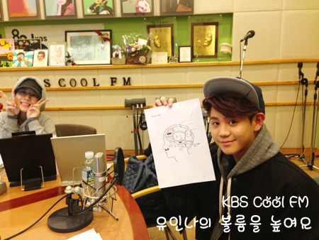 ygfamilyy:  Yoo In Na with Yoseob (B2ST) @ 121222 KBS Turn Up The Volume!