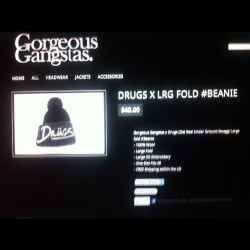 The @GorgeousGangstas #drugs lrg fold beanie is back on sale!!!! Get yours now www.gorgeousgangstas.com