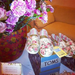 Spotted in NYC: Shabby Chic x TOMS shoes limited-edition collaboration, made with vintage-inspired prints. Copyright © 2013 Past Fashion Future. All rights reserved.