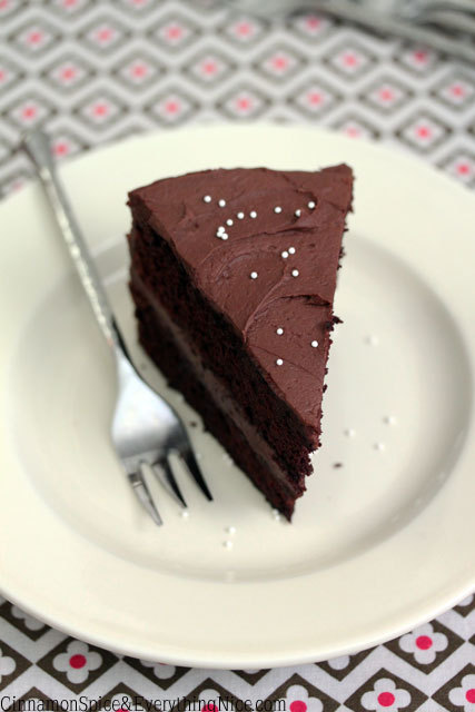 wehavethemunchies:  One-Bowl Chocolate Cake with Cocoa Cream Frosting
