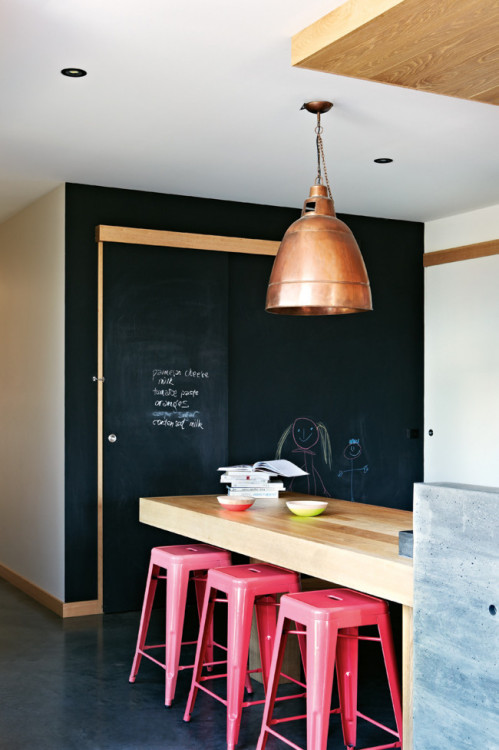 myidealhome:  chalkboard love (via dustjacket attic: inside out au)