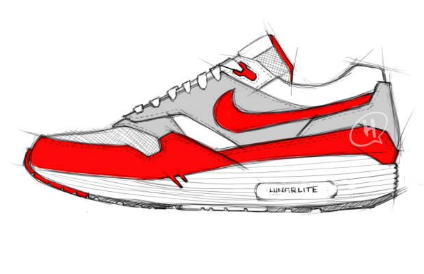 """LUNARMAX ONE"" Based off of Tinker's Famous Air Max 1, I went with Sharper edges and altered the cut and sewn areas a little. Of course I had to add my twist with the Lunarlon midsole and angled the notches at the forefoot for better flexibility of the midsole. Kinda like the Lunarlon midsole is the tub and the rest of the shoe is just laying in it. I also placed the Lunarlon plug where the original Air Max window would be.  REP96st"